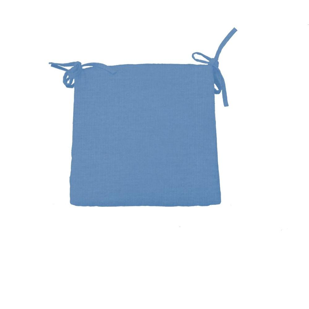 Sunbrella Denim Square Outdoor Cafe Seat Cushion (2-Pack)