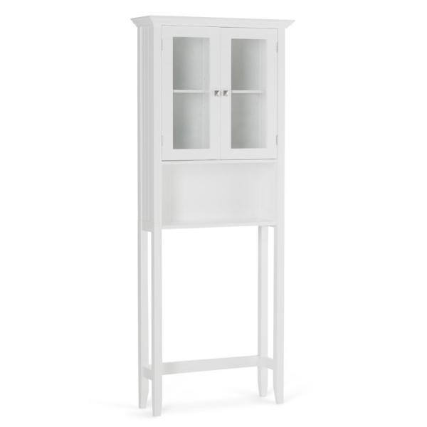 Acadian 27.6 in. W x 68.4 in. H x 9.1 in. D Over The Toilet Space Saver Bath Cabinet in White