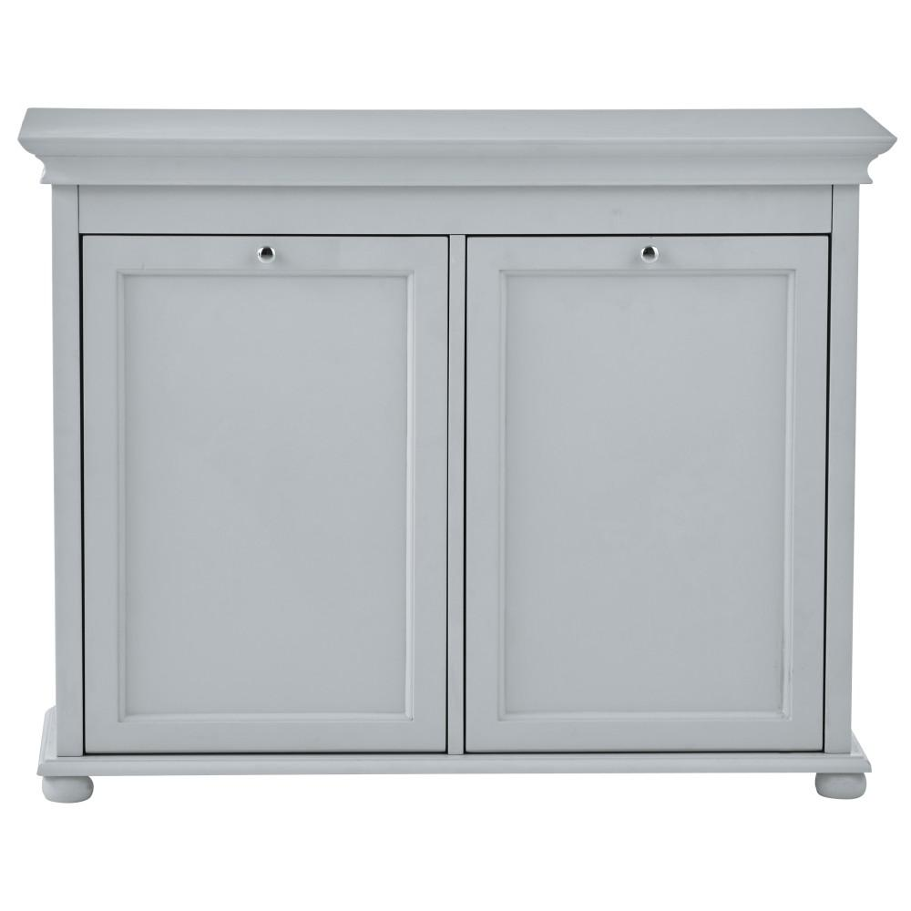 Home Decorators Collection Hampton Harbor 35 In Double Tilt Out Hamper In Dove Grey 2601320270