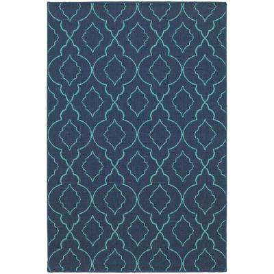 Phantom Navy 7 ft. x 10 ft. Indoor/Outdoor Area Rug