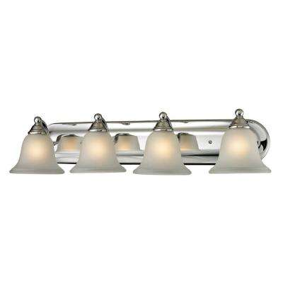 Shelburne 4-Light Chrome Wall Mount Bath Bar Light