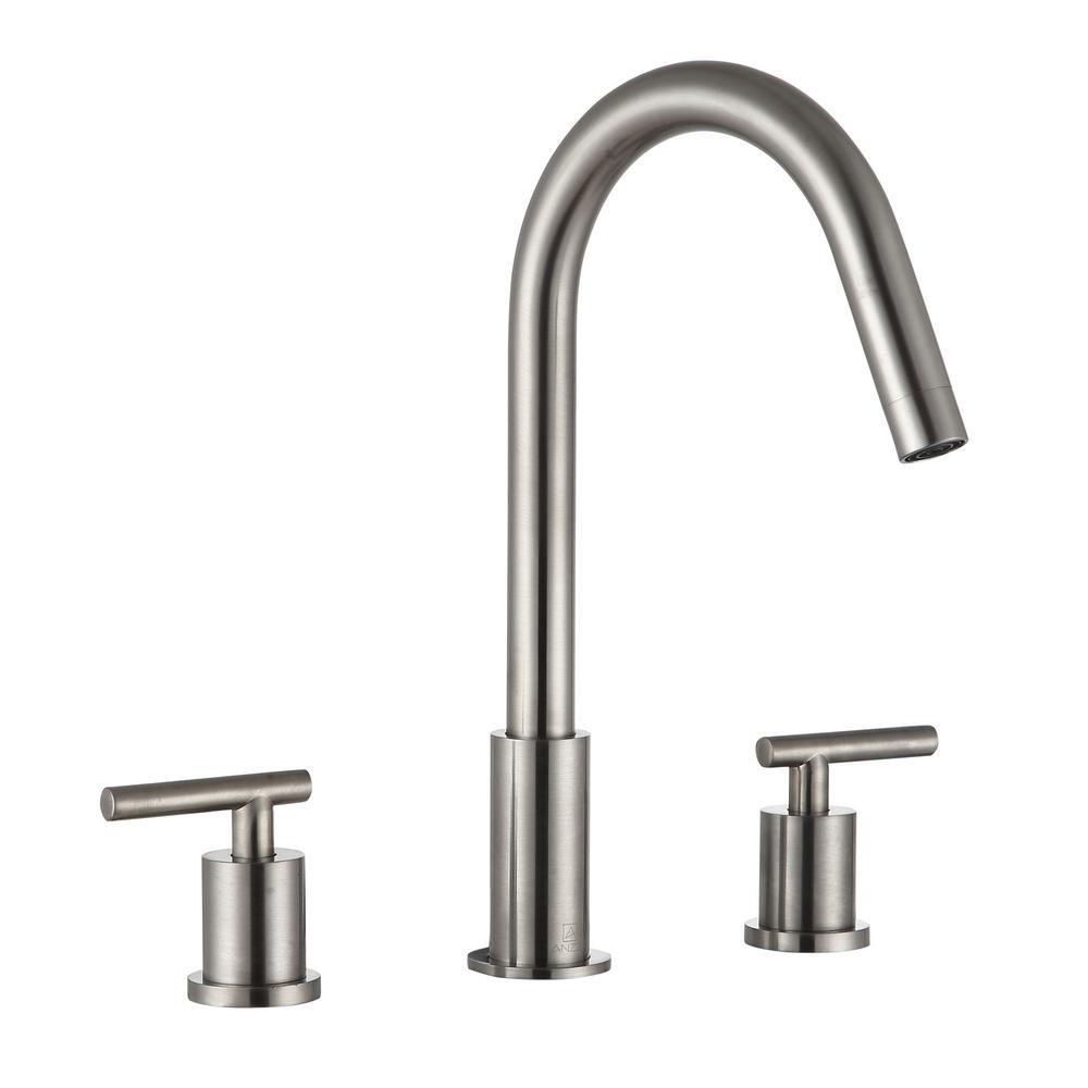 Spartan 8 in. Widespread 2-Handle Bathroom Faucet in Brushed Nickel