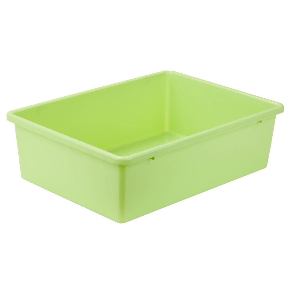 Charmant Honey Can Do 16.5 Qt. Storage Bin In Light Green