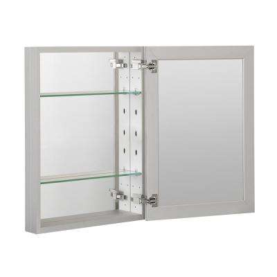 20 in. x 26 in. Recessed or Surface Mount Frameless 1-Door Medicine Cabinet with 2-Adjustable Shelves