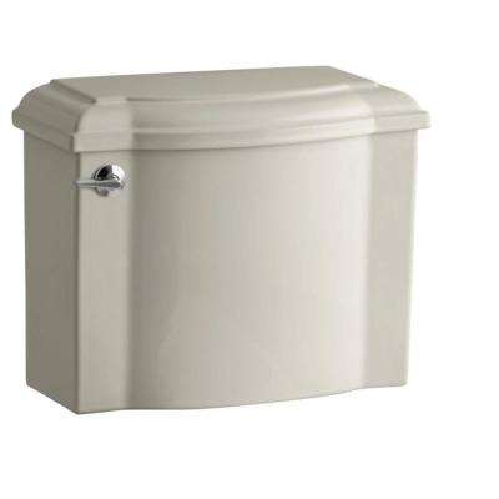 Devonshire 1.28 GPF Single Flush Toilet Tank Only with AquaPiston Flush Technology in Sandbar