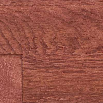 10 in. x 10 in. Faux Barn Wood Panel Siding Sample Mahogany