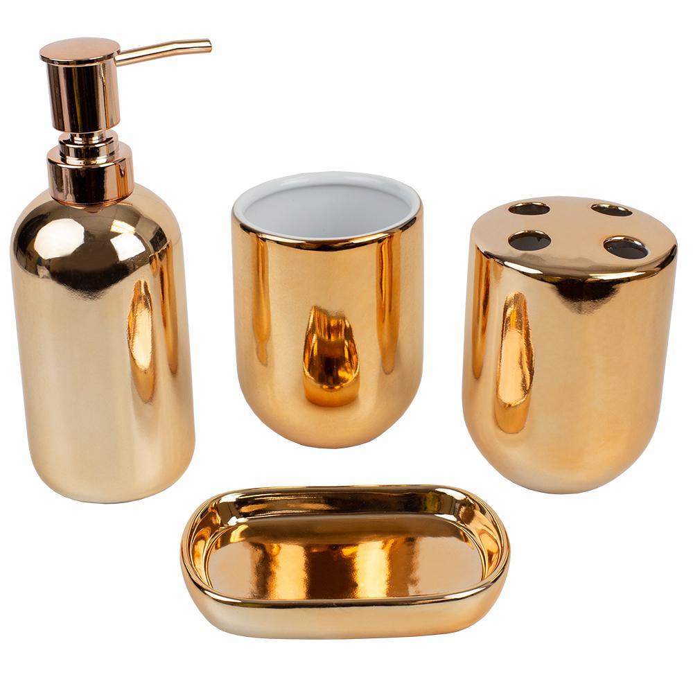 4-Piece Bath Accessory Set in Copper