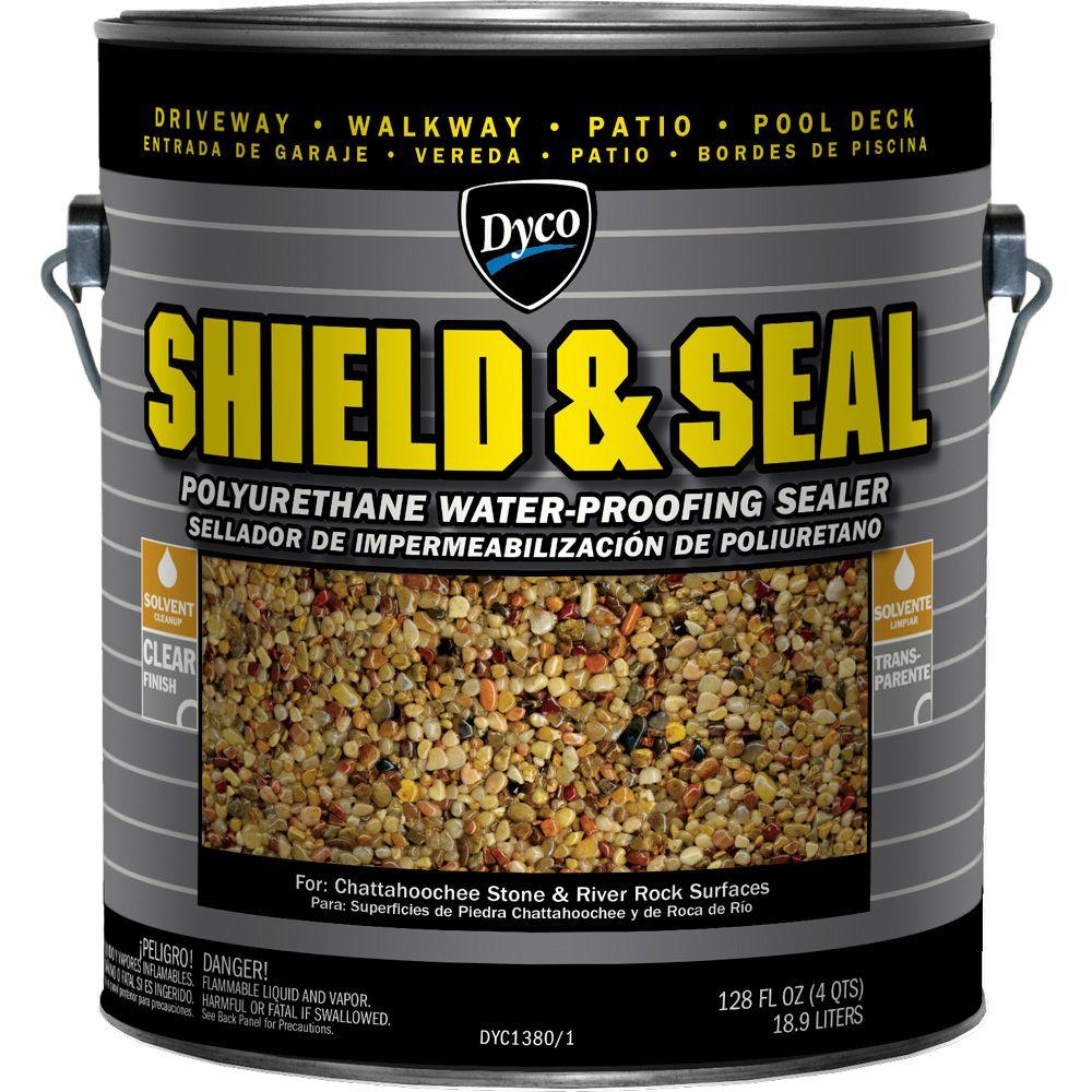 Dyco Paints SHIELD & SEAL 1 gal  1380 Clear Polyurethane Waterproofing  Sealer