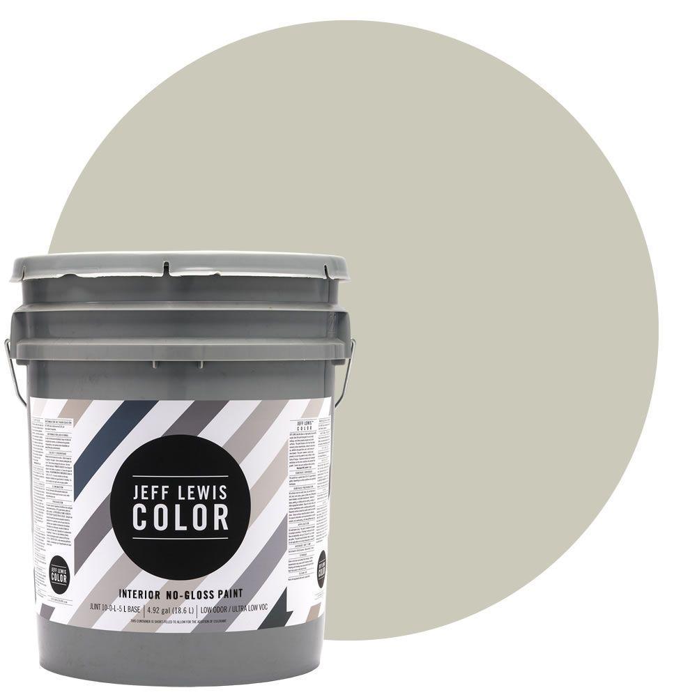 Jeff Lewis Color 5-gal. #JLC211 Canvas No-Gloss Ultra-Low VOC Interior Paint