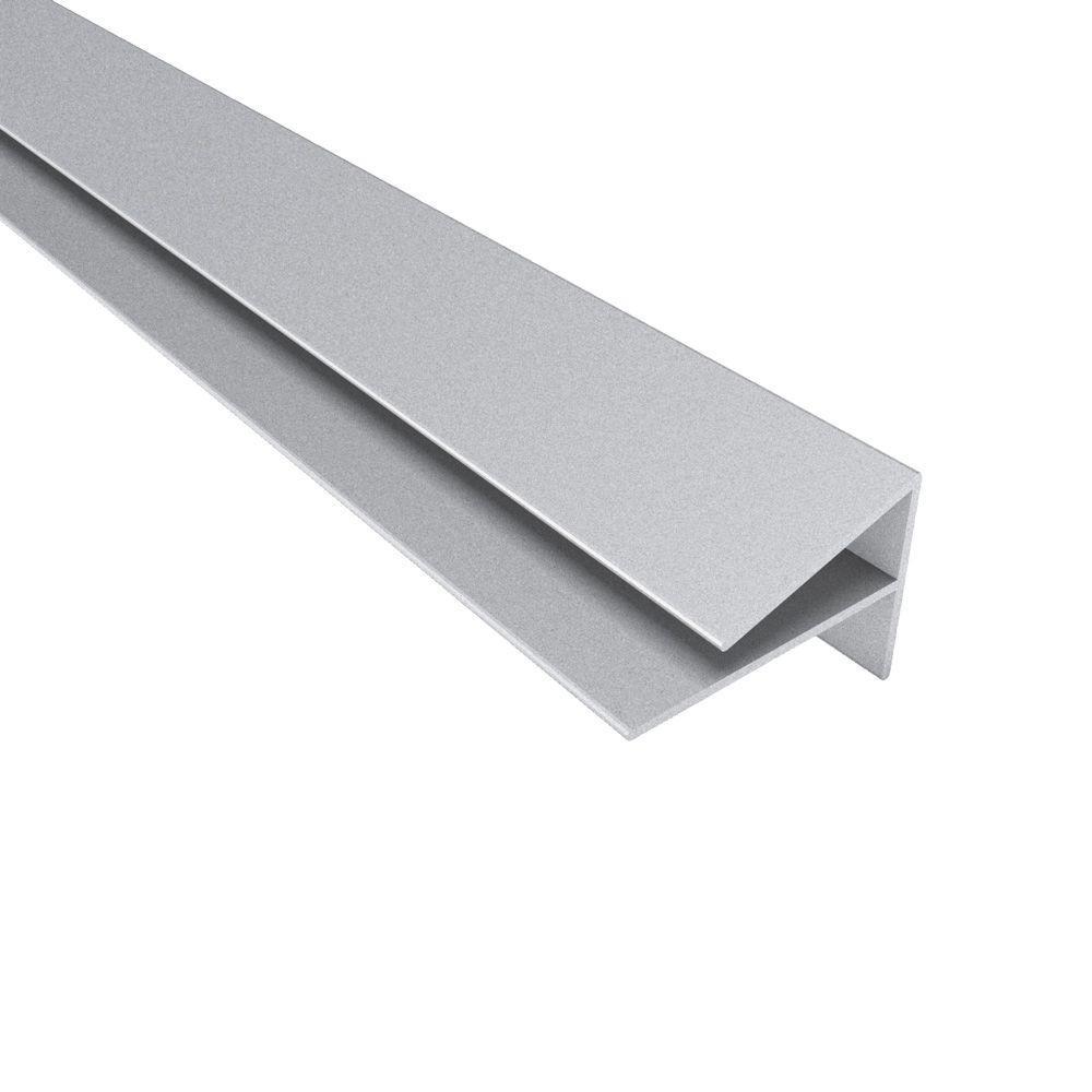 Fasade 4 ft. Large Profile Outside Corner Trim in Argent Silver