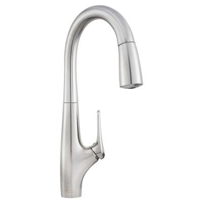 Avery Single-Handle Pull-Down Sprayer Kitchen Faucet in Stainless Steel
