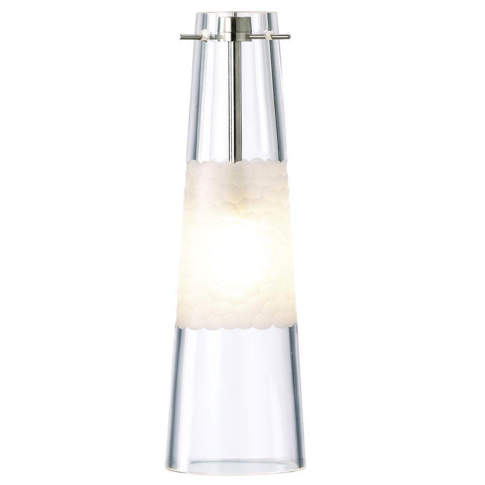 Bonn 1-Light Clear Satin Nickel Hanging Mini Pendant