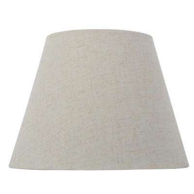 Mix and Match 10 in. Dia x 7.5 in. H Oatmeal Round Accent Lamp Shade