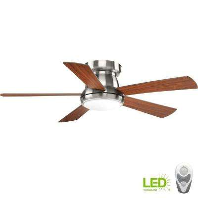 Vox Collection 52 in. LED Brushed Nickel Ceiling Fan