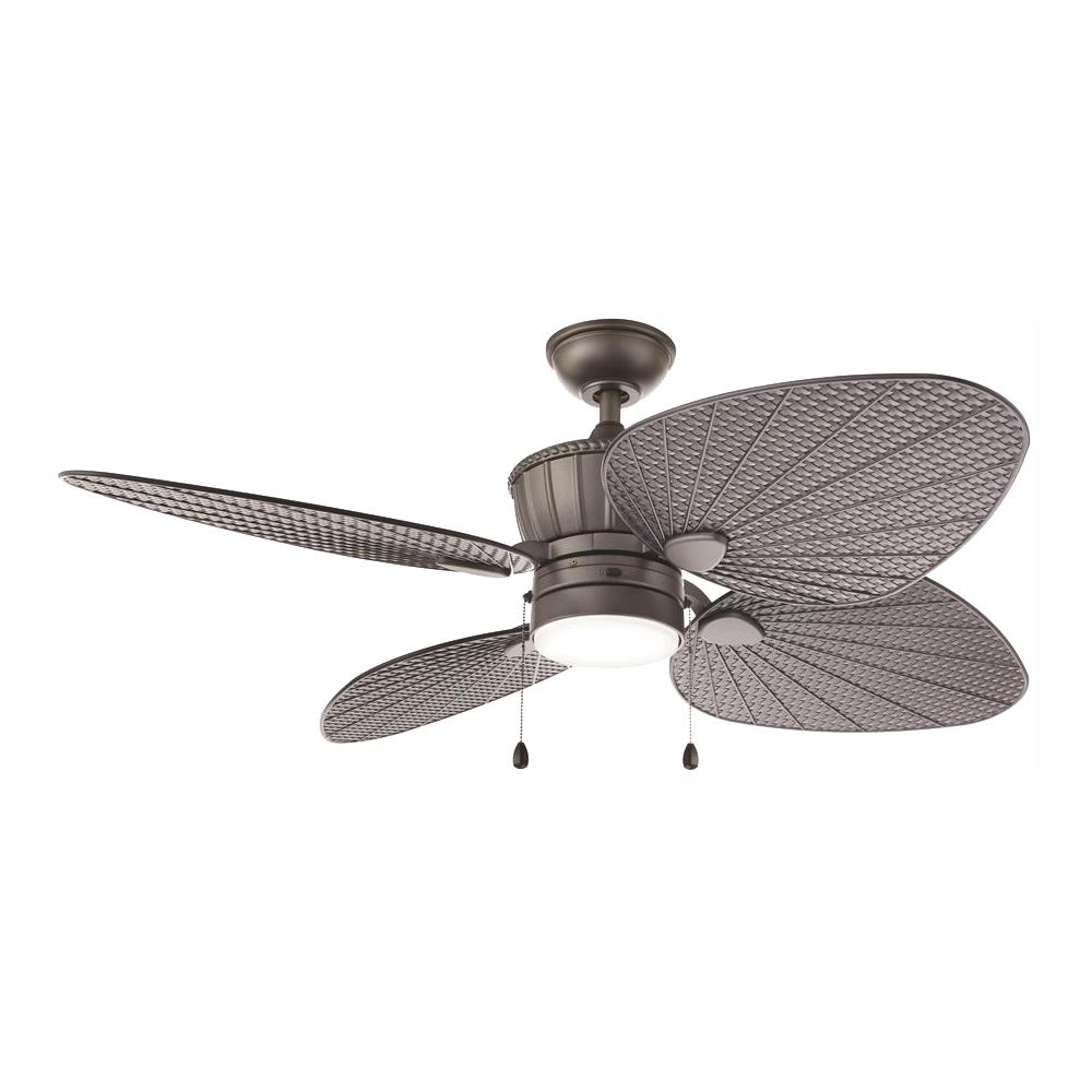 Home Decorators Collection Pompeo 52 in. Integrated LED Indoor/Outdoor Natural Iron Ceiling Fan with Light Kit