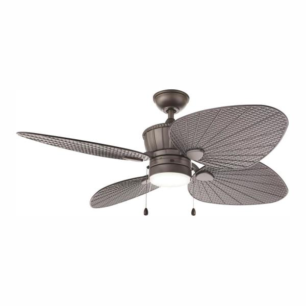 """Ceiling Fan With Light Kit Natural Iron 60/"""" Integrated LED Indoor Outdoor Decor"""