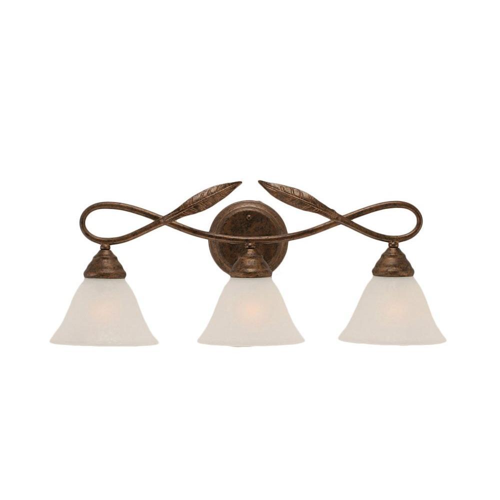 Filament Design Concord 3 Light Wall Bronze Incandescent Vanity