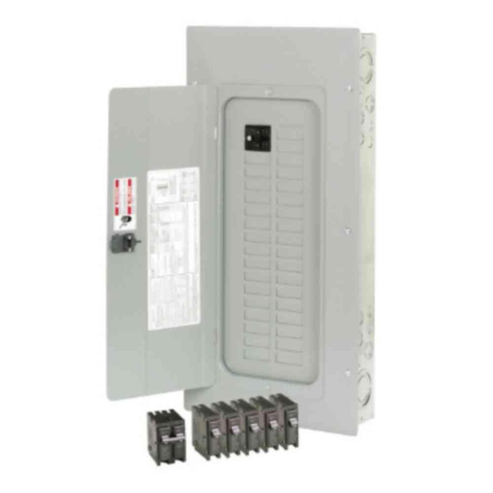 BR 100 Amp 30-Space 30-Circuit Indoor Main Breaker Loadcenter with Cover