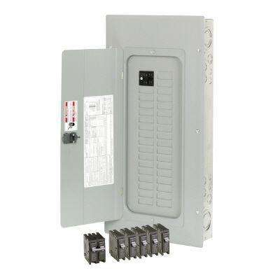 100 Amp 30-Space /Circuit Type BR Main Breaker Load Center Copper Bus Value Pack Includes 6 Breakers