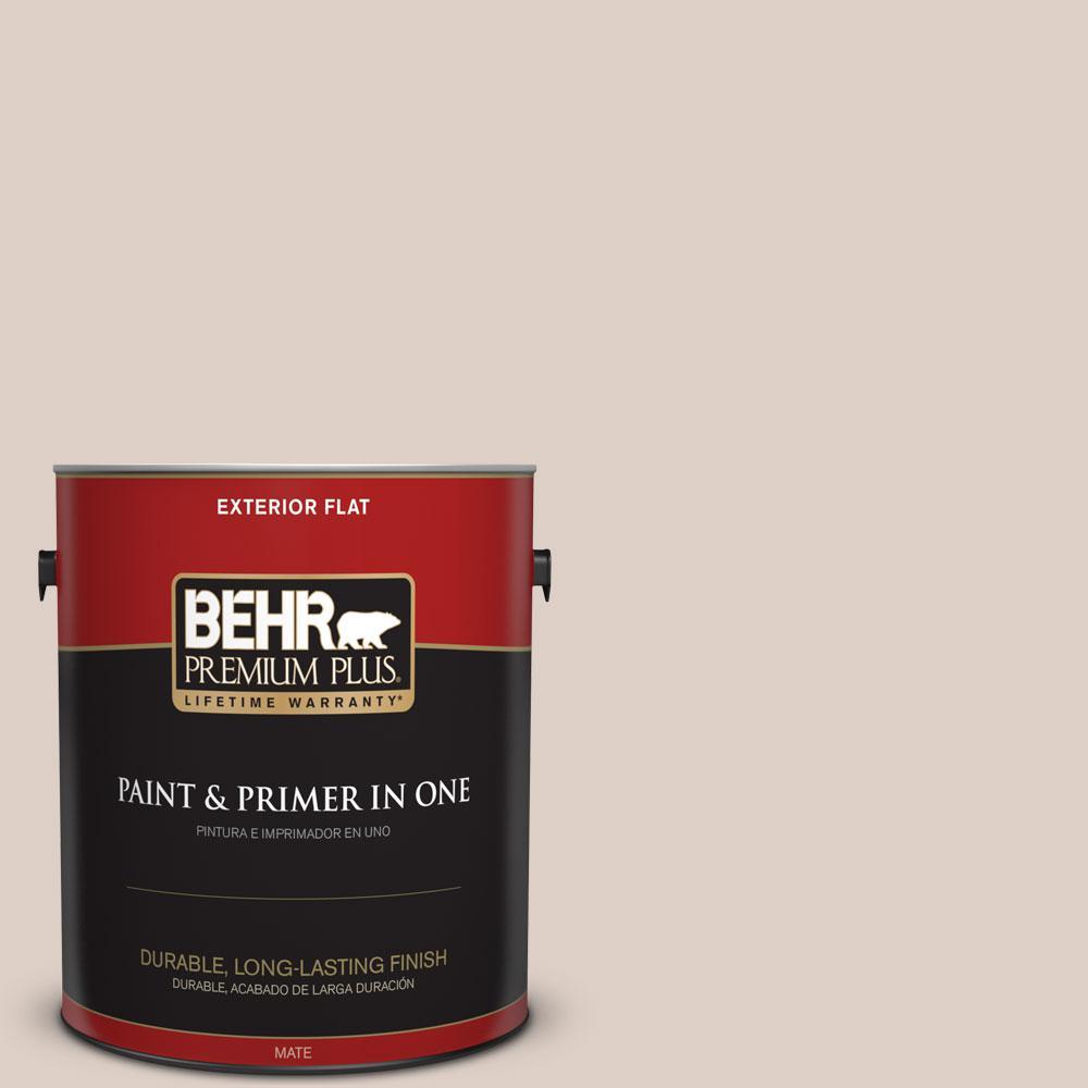 BEHR Premium Plus 1-gal. #PPL-77 Cocoa Parfait Flat Exterior Paint