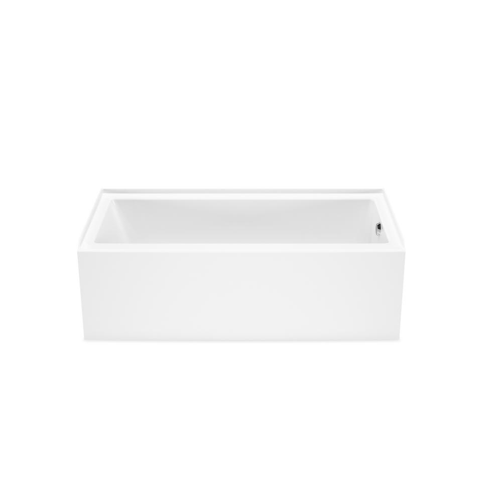 Maax Bosca Ifs 59 75 In Acrylic Right Drain Rectangular Alcove Soaking Bathtub In White 106394 000 001 002 The Home Depot