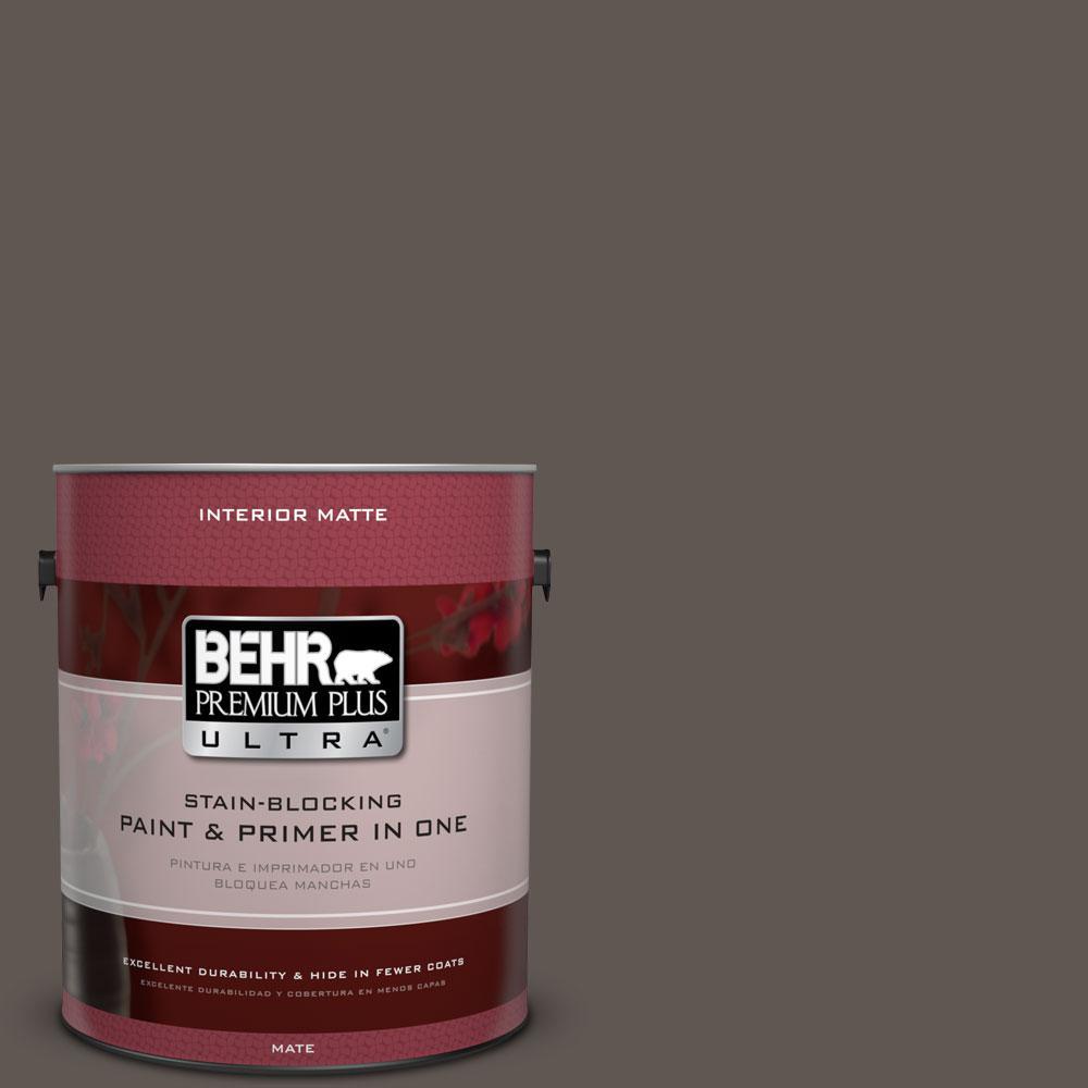 1 gal. #N140-7 Timber Brown Matte Interior Paint