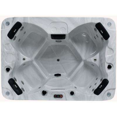 Halifax SE 22 Jet 4-Person Plug & Play Acrylic Hot Tub with LED Lighting, Waterfall, Aromatherapy and Ozone Filtration