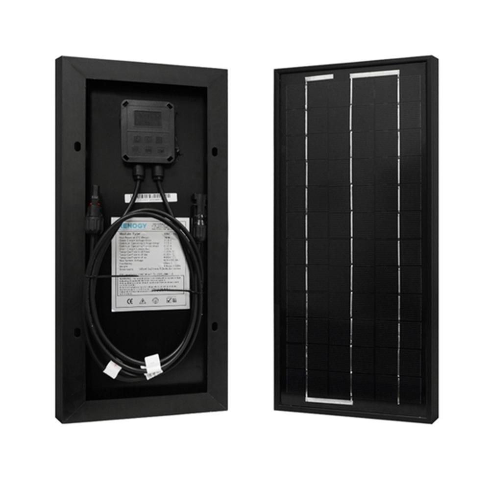 10-Watt 12-Volt Monocrystalline PV Solar Panel