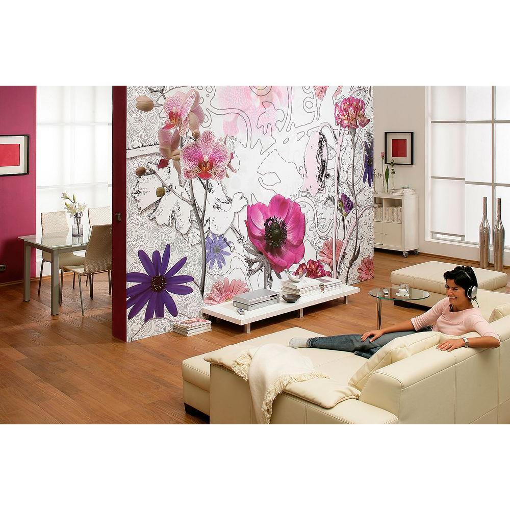 100 in. x 145 in. Purple Wall Mural