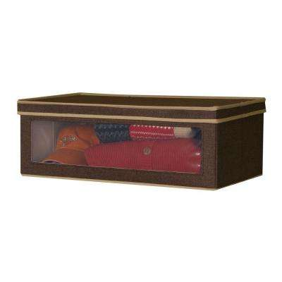 24.25 in. x 13.25 in. Coffee Linen-Look Large Vision Box