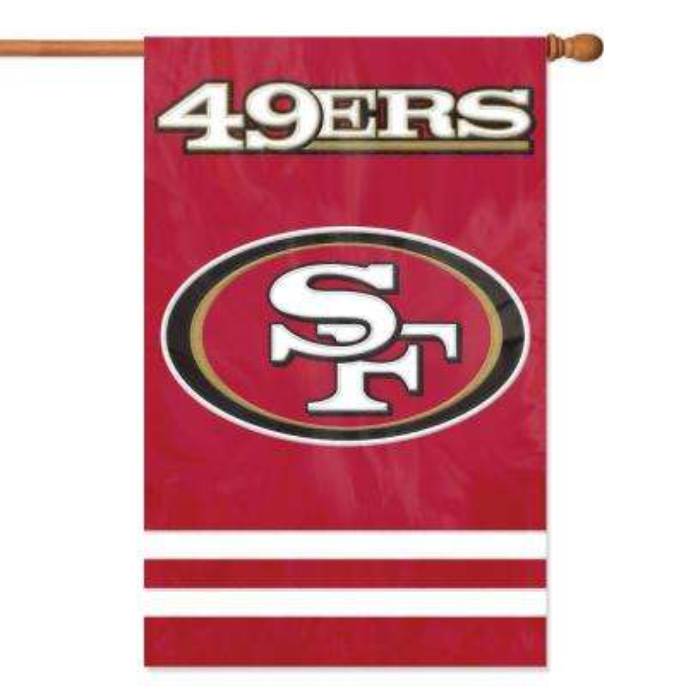 San Francisco 49ERS Applique Banner Flag