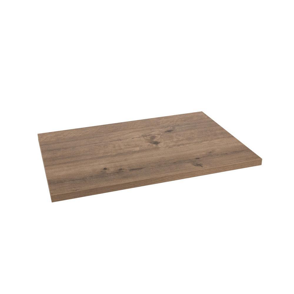 Closet Culture 16 in. x 23 in. Wood Shelf in Driftwood-0330 ...