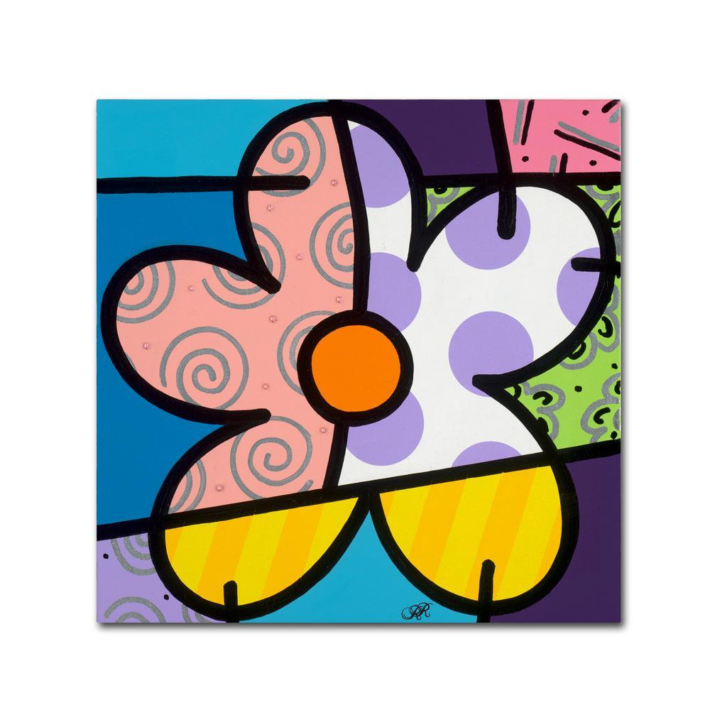 Trademark Fine Art 24 in. x 24 in. ''Big Flower IV''