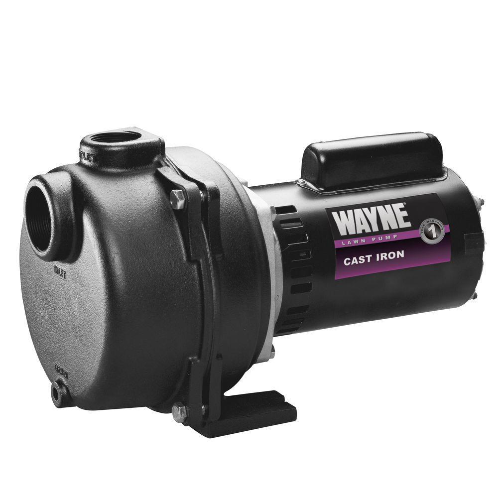 Wayne 2 HP Permanent Lawn Sprinkler Pump