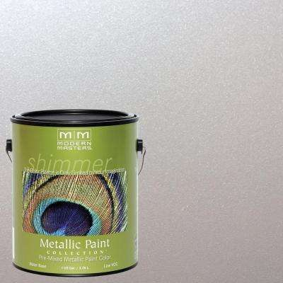 1 gal. Oyster Water-Based Satin Metallic Interior/Exterior Paint