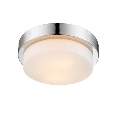 Maddox Collection 2-Light Chrome Flush Mount