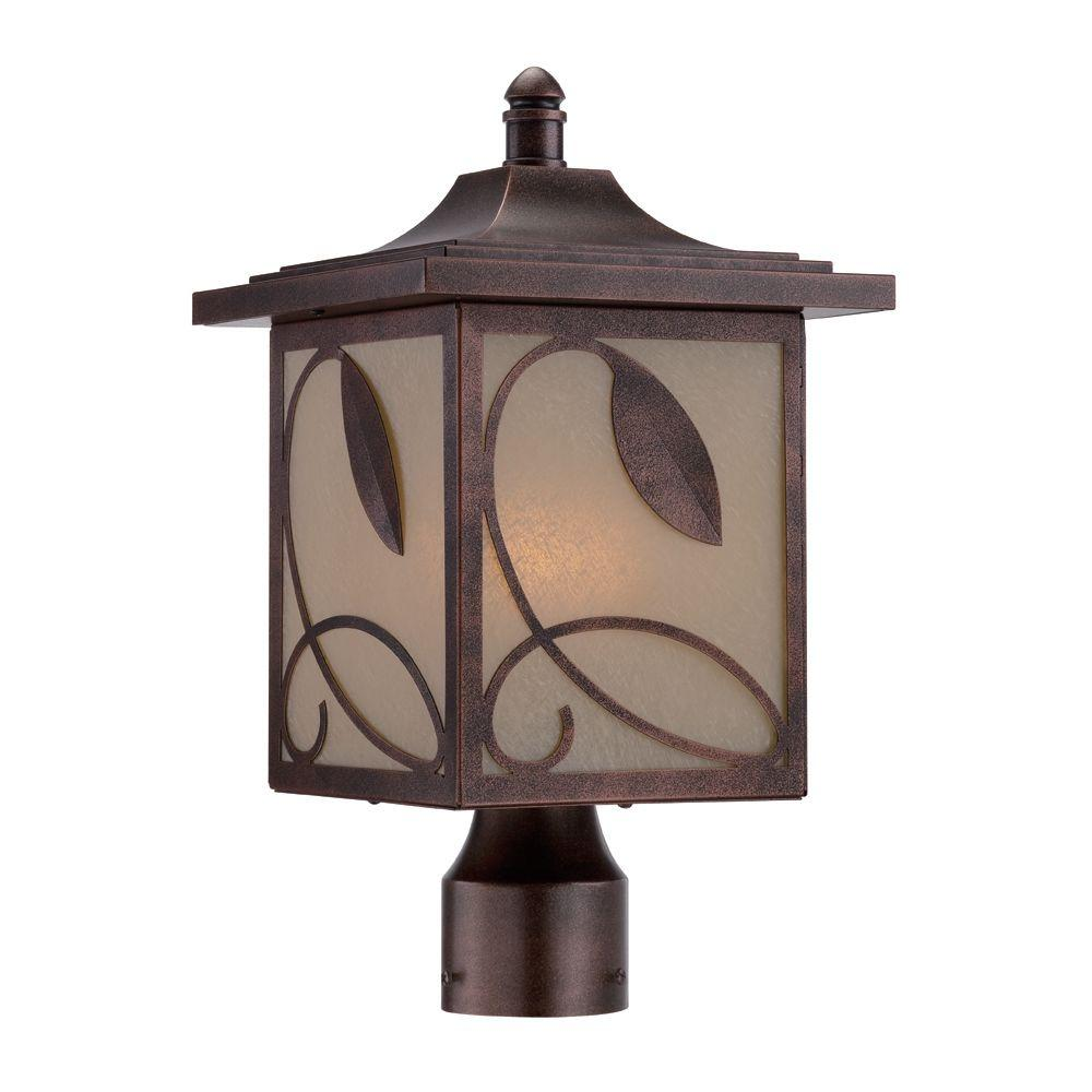 Devonwood 3-Light Flemish Copper Outdoor Incandescent Post Lantern
