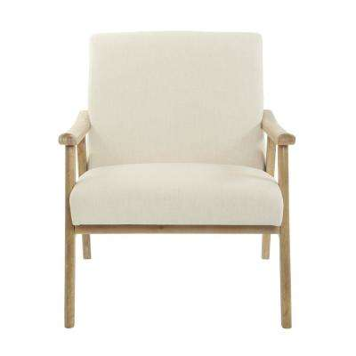 Weldon Linen Fabric with Brushed Frame Chair