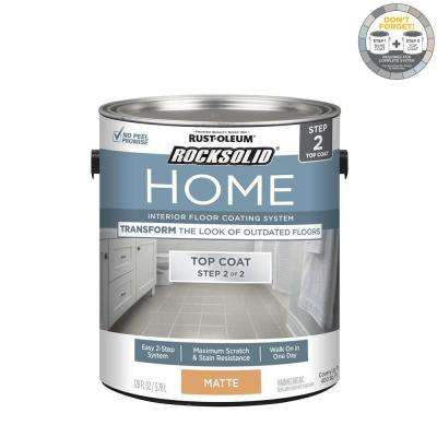 Home 1 gal. Matte Clear Interior Floor Topcoat (2-Pack)