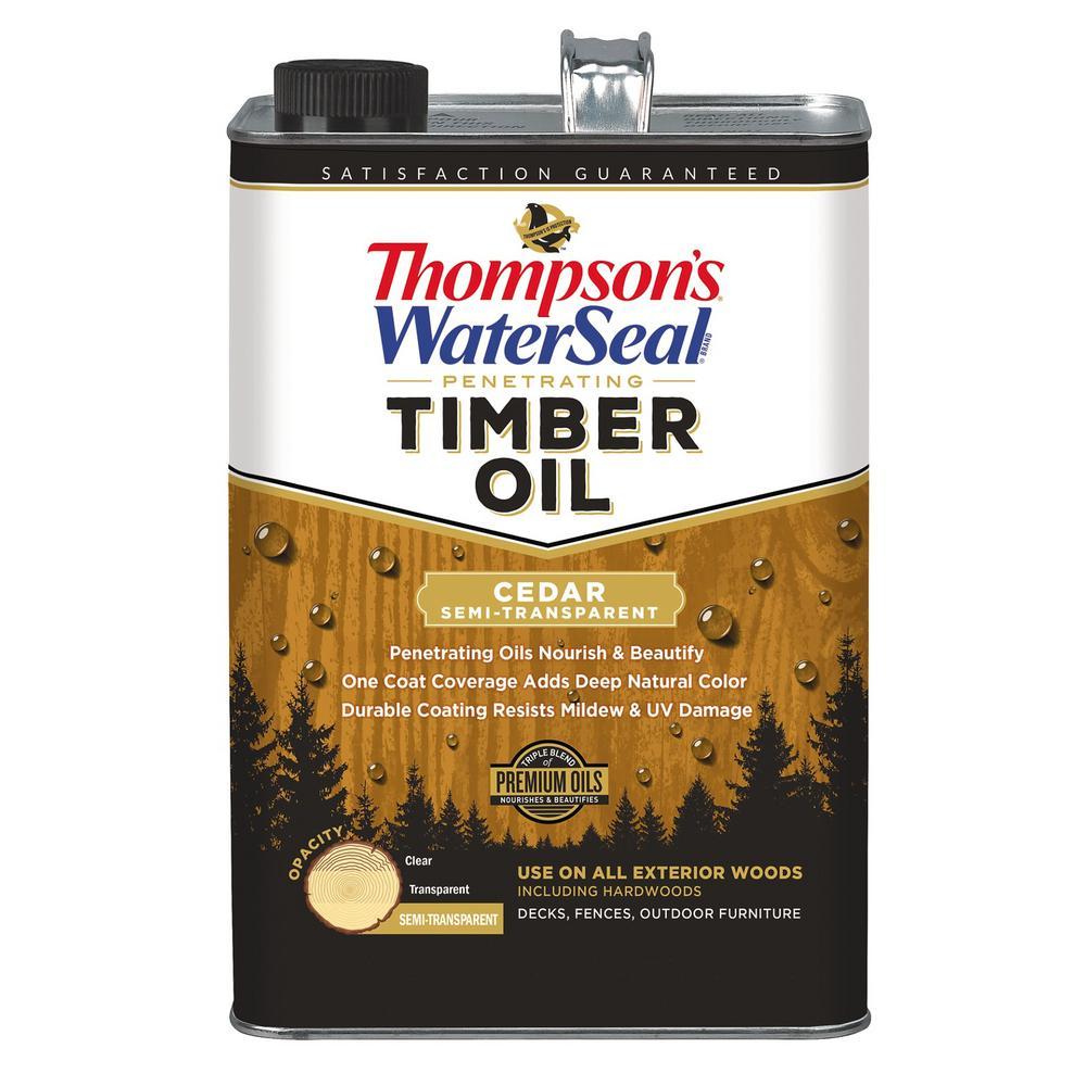 1 gal. Semi-Transparent Cedar Penetrating Timber Oil Exterior (4-Pack )