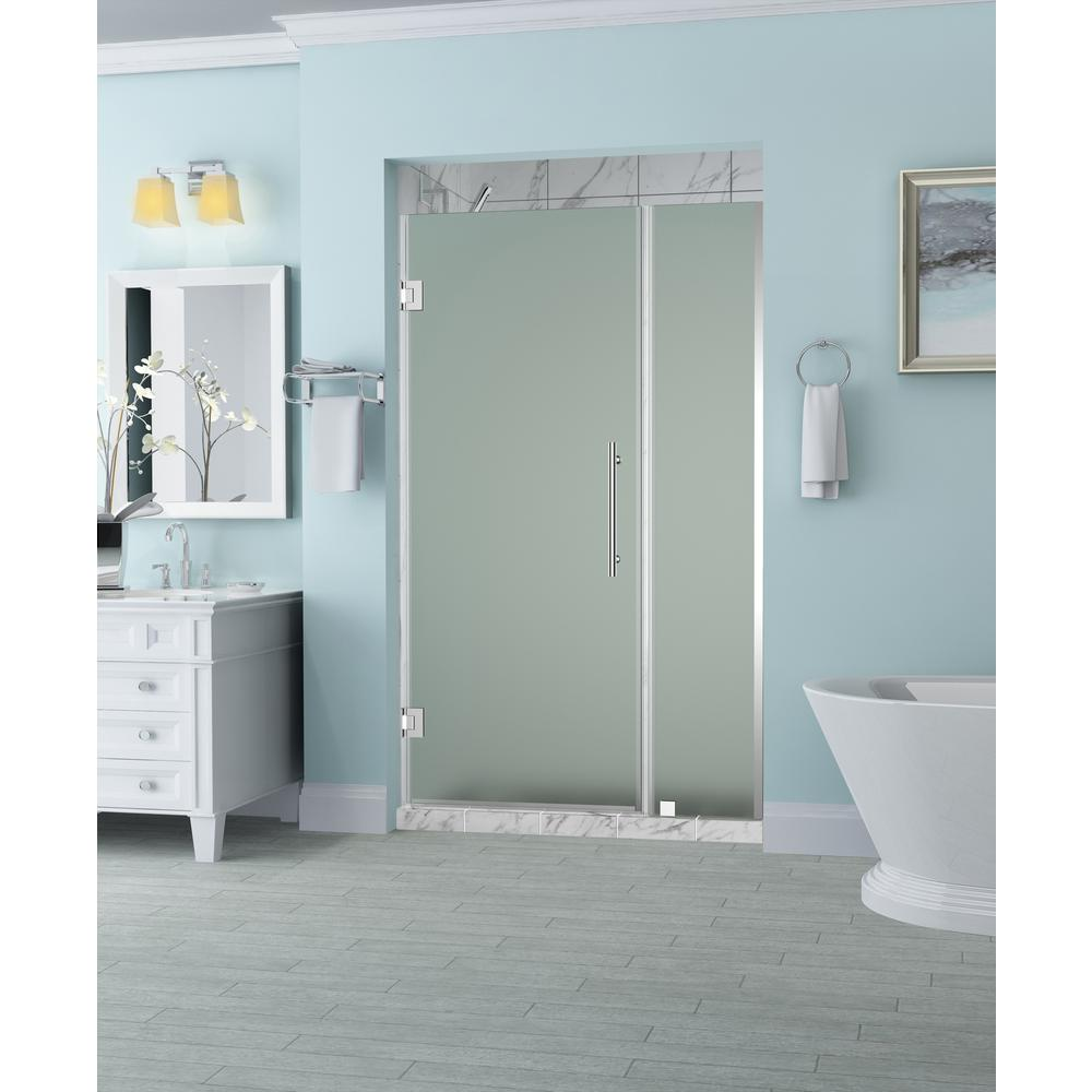 Aston Belmore 51.25 in. to 52.25 in. x 72 in. Frameless Hinged ...