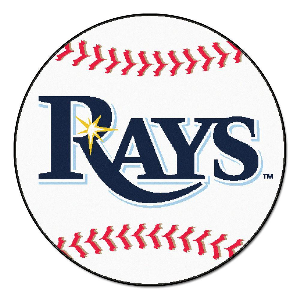 Fanmats Mlb Tampa Bay Rays White 2 Ft 3 In X 2 Ft 3 In