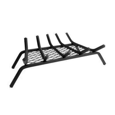 1/2 in. 24 in. 5-Bar Steel Fireplace Grate with Ember Retainer
