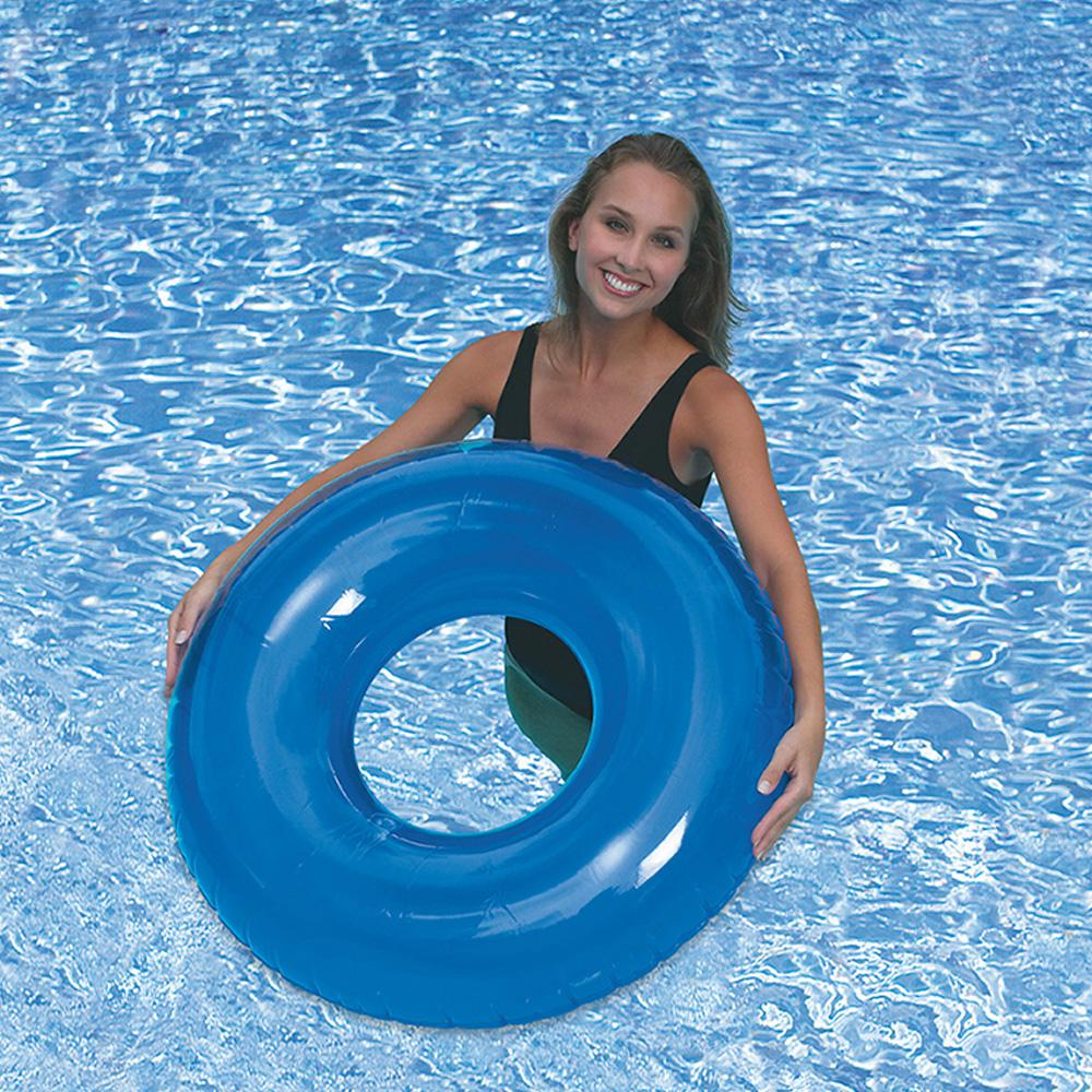 Sunsplash Blue Inflatable Swimming Pool Tube Lounge Chair Adult Float 36  In. New