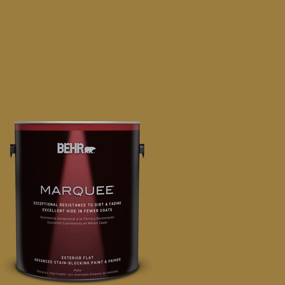 BEHR MARQUEE 1-gal. #S-H-380 Burnished Bronze Flat Exterior Paint
