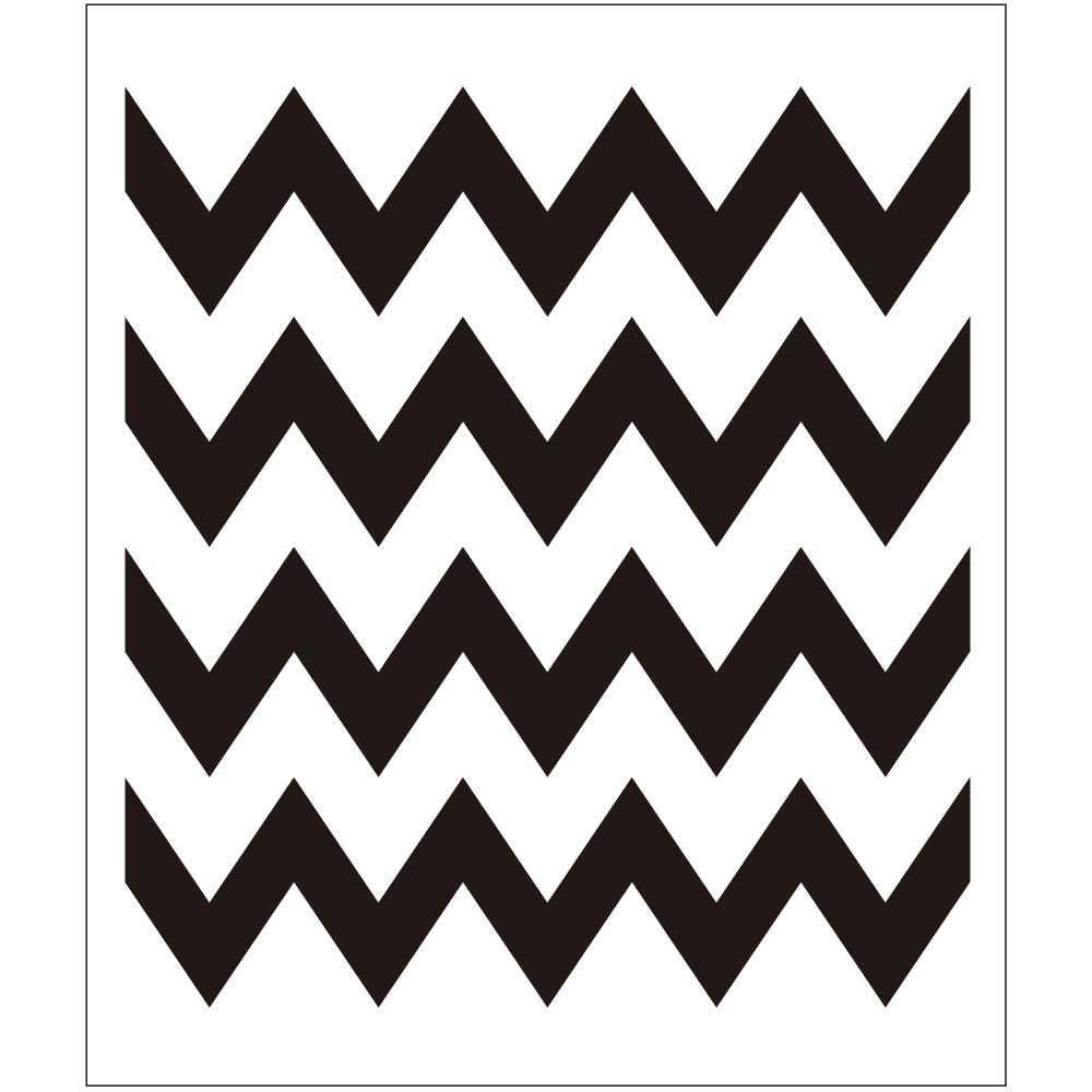 Folkart chevron painting stencils 4382 the home depot for Printable stencils for canvas painting