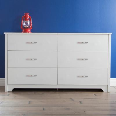 Fusion 6-Drawer Pure White Dresser