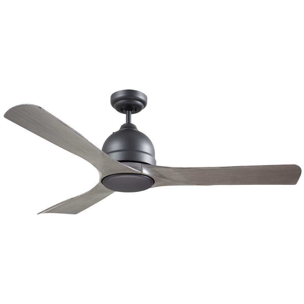 emerson volta 54 in. led indoor / outdoor graphite ceiling fan