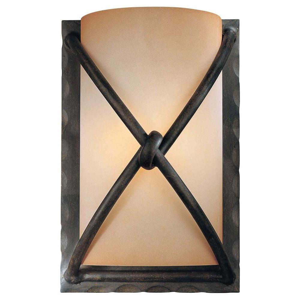 lighting p depot wall sconces home light artisan bronze the sconce cordelia