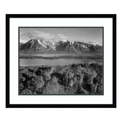 """""""View across river valley, Grand Teton National Park, Wyoming, 1941"""" by Ansel Adams Framed Wall Art"""
